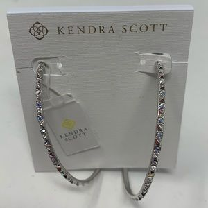 Kendra Scott Val Silver Hoop Earrings